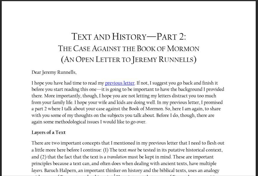 Open Letter part 2