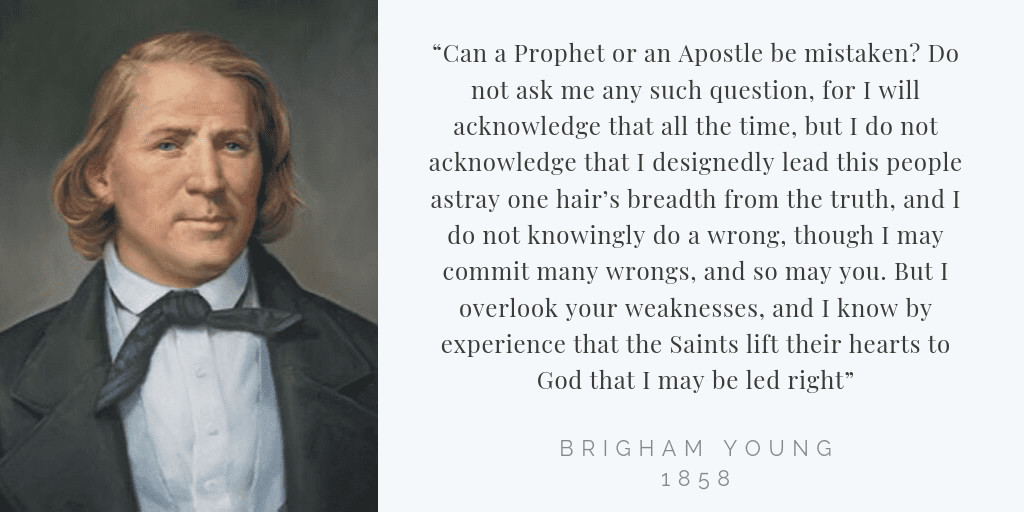Brigham Young Prophets Mistaktes