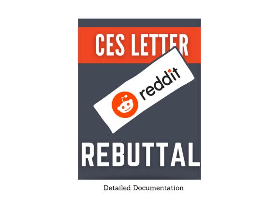 CES Letter Reddit Rebuttal